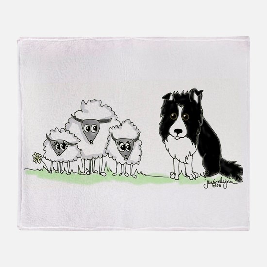 Cool Border collies Throw Blanket