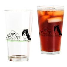 Border collies Drinking Glass