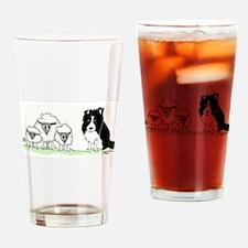 Cute Border collies Drinking Glass