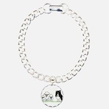 Unique Border collie Charm Bracelet, One Charm