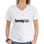 Recovering Catholic Women's V-Neck T-Shirt