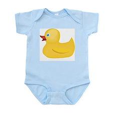 Yellow Rubber Duck Infant Bodysuit