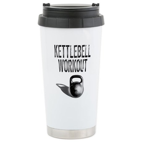 Kettlebell Workout Stainless Steel Travel Mug