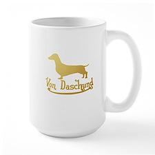 Von Daschund Gold Mug