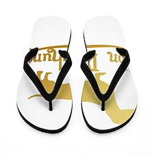 Von Daschund Gold Flip Flops