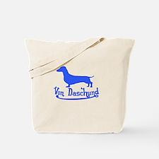 Von Daschund Blue Tote Bag