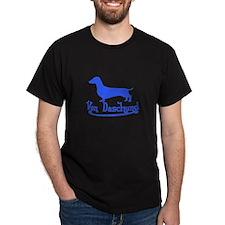 Von Daschund Blue T-Shirt