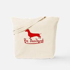 Von Daschund Red Tote Bag