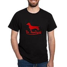 Von Daschund Red T-Shirt