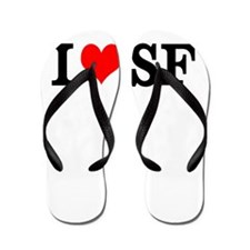 I Love San Francisco SF Flip Flops Sandals