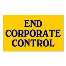 corporate control... Rectangle Decal