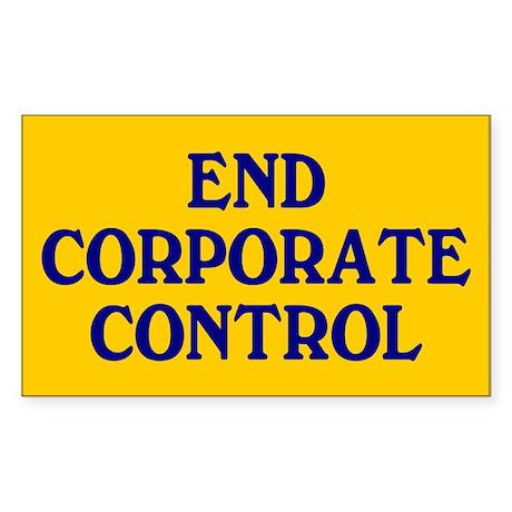 corporate control... Rectangle Sticker