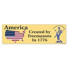 Masonic Historical Bumper Sticker