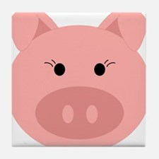 Cute Pig Tile Coaster