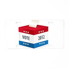 Vote 2012 Aluminum License Plate