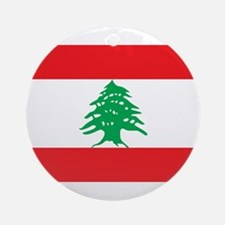 Flag of Lebanon Ornament (Round)