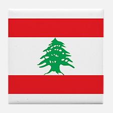 Flag of Lebanon Tile Coaster