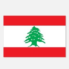 Flag of Lebanon Postcards (Package of 8)