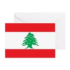 Flag of Lebanon Greeting Card