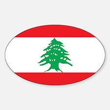 Flag of Lebanon Sticker (Oval)