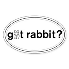 got Rabbit? Oval Decal