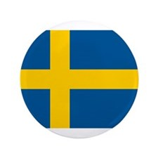 "Flag of Sweden 3.5"" Button"