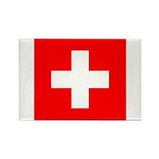Flag of Switzerland Rectangle Magnet (100 pack)