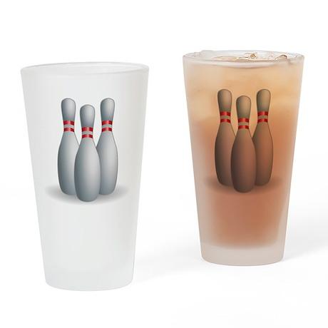 Bowling Pins Drinking Glass