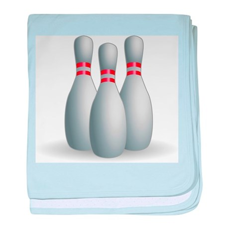 Bowling Pins baby blanket