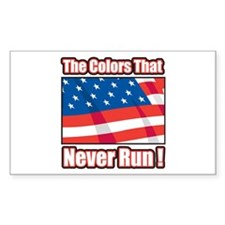Colors that Never Run Rectangle Decal