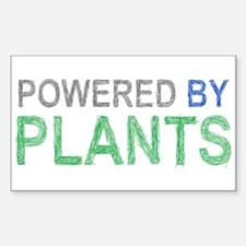 Powered By Plants Sticker (Rectangle)