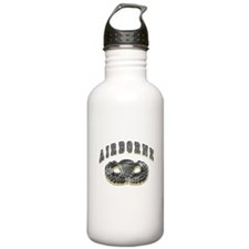 US Army Airborne Wings Silver Water Bottle