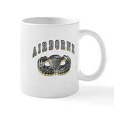 US Army Airborne Wings Silver Mug