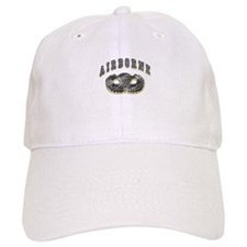 US Army Airborne Wings Silver Baseball Cap