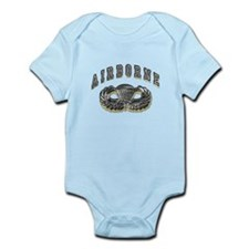 US Army Airborne Wings Silver Infant Bodysuit