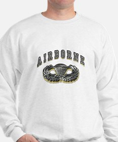 US Army Airborne Wings Silver Sweater