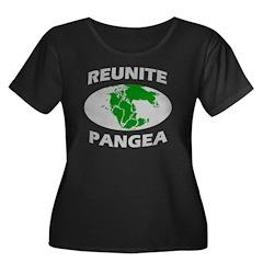 Reunite Pangea Women's Plus Size Scoop Neck Dark T