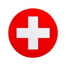 """Flag of Switzerland 3.5"""" Button"""