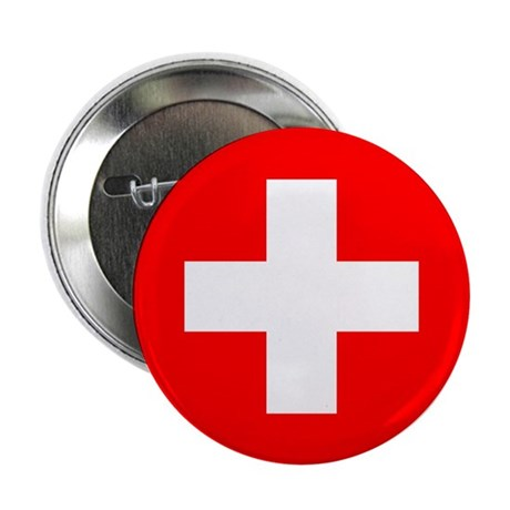 "Flag of Switzerland 2.25"" Button (10 pack)"