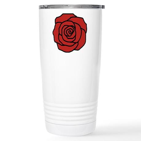Rose flower Stainless Steel Travel Mug