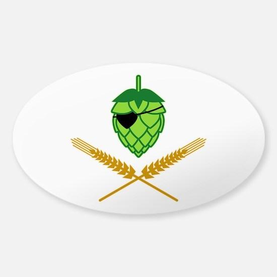 Pirate Hop Sticker (Oval)