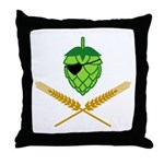 Pirate Hop Throw Pillow