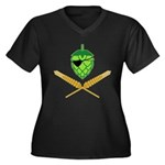 Pirate Hop Women's Plus Size V-Neck Dark T-Shirt