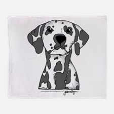 Cute Dalmatian Throw Blanket
