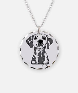 Cute Dalmatian Necklace Circle Charm