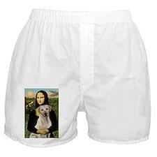 Mona & her Yellow Lab Boxer Shorts