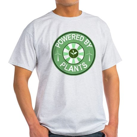 Powered By Plants Badge Light T-Shirt