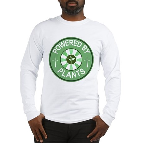 Powered By Plants Badge Long Sleeve T-Shirt