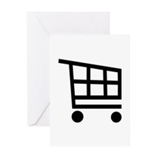 Shopping cart Greeting Card
