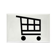 Shopping cart Rectangle Magnet